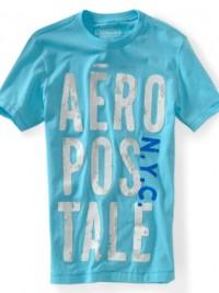 Pánské triko Aero Puff Graphic - Světle modrá