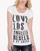 Dámské triko G by Guess Abrielle Angeles - Bílá