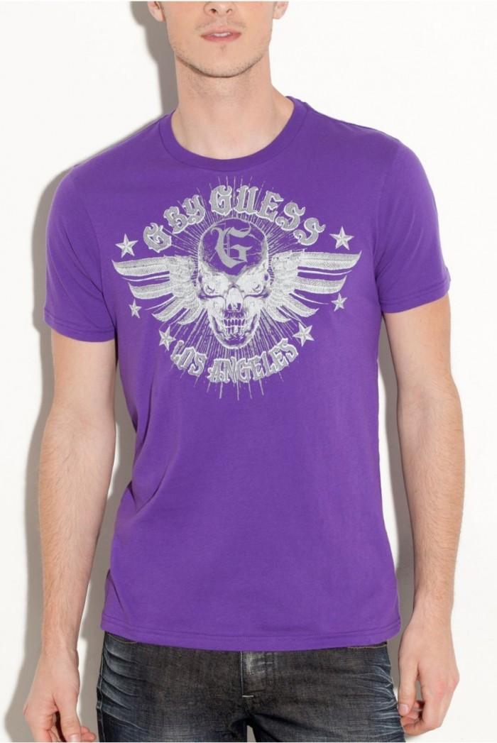 Pánské triko G by Guess Warfront - Fialová
