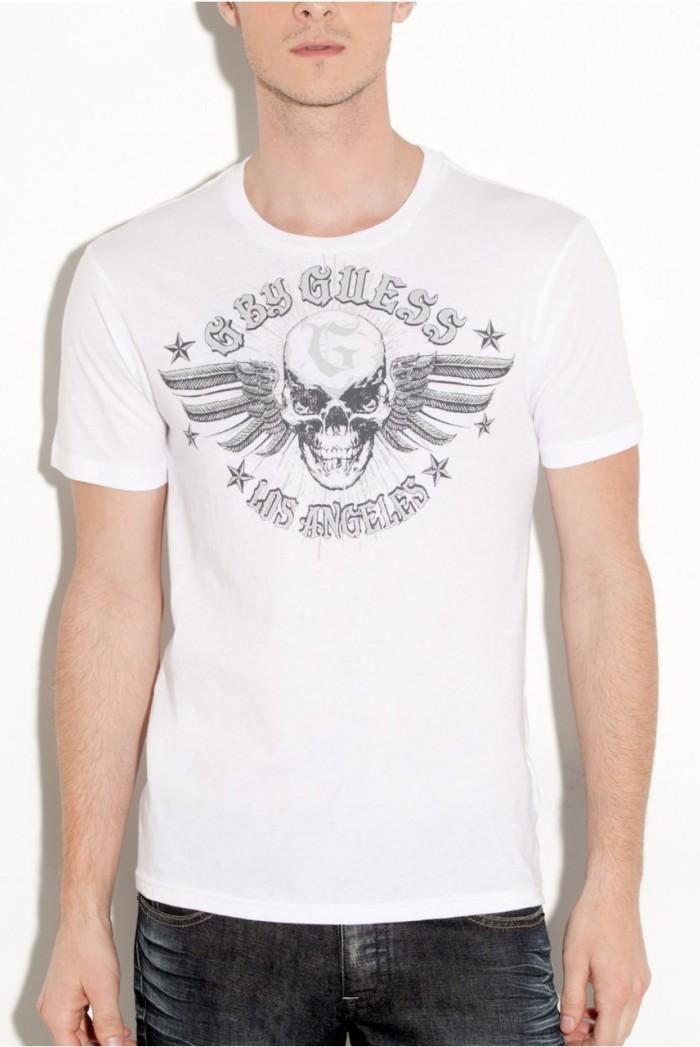Pánské triko G by Guess Warfront - Bílá