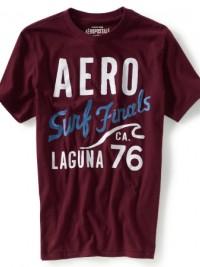 Pánské triko Aero Surf Cali Beach - Vínová