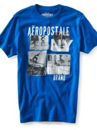 Pánské tričko Aero Skate Photo - Modrá