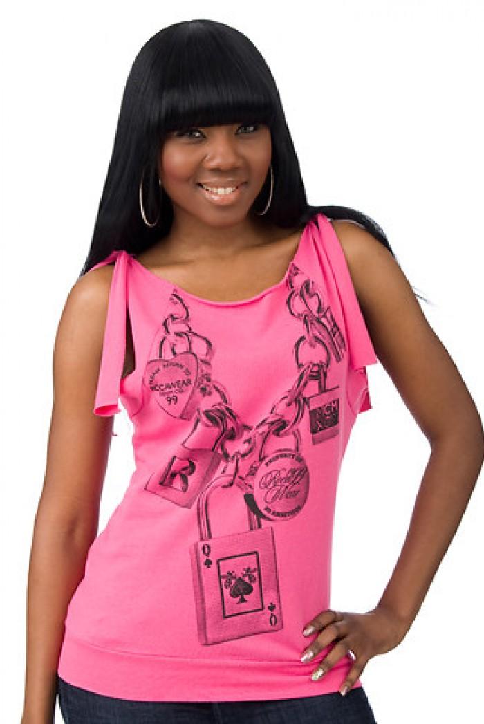 Dámské triko Love Locked - Růžová